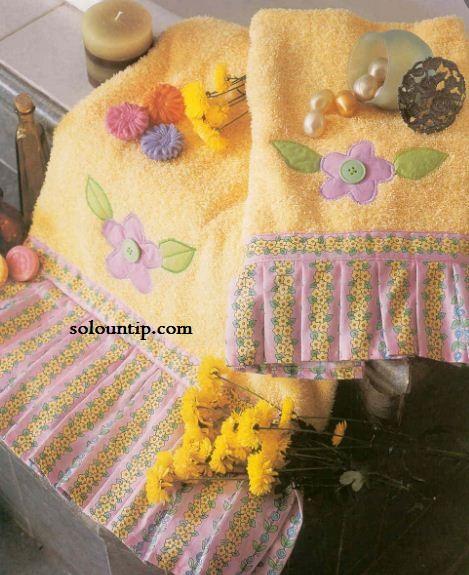Decorar Baño Toallas:toallas para tu hogar toallas decoradas con tela y apliques