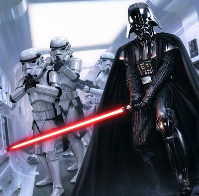 Darth Vader, um os vilões