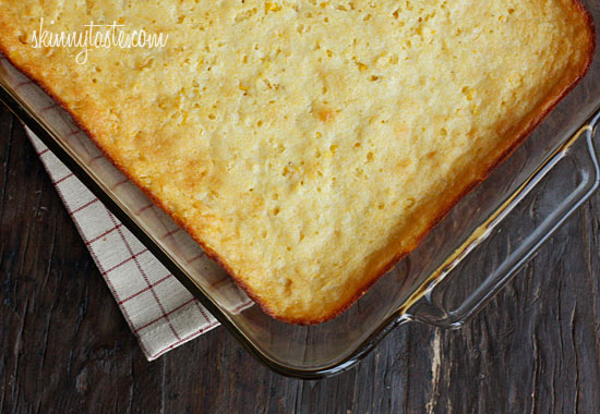 Corn casserole, a cross between of a corn pudding and a corn bread is ...