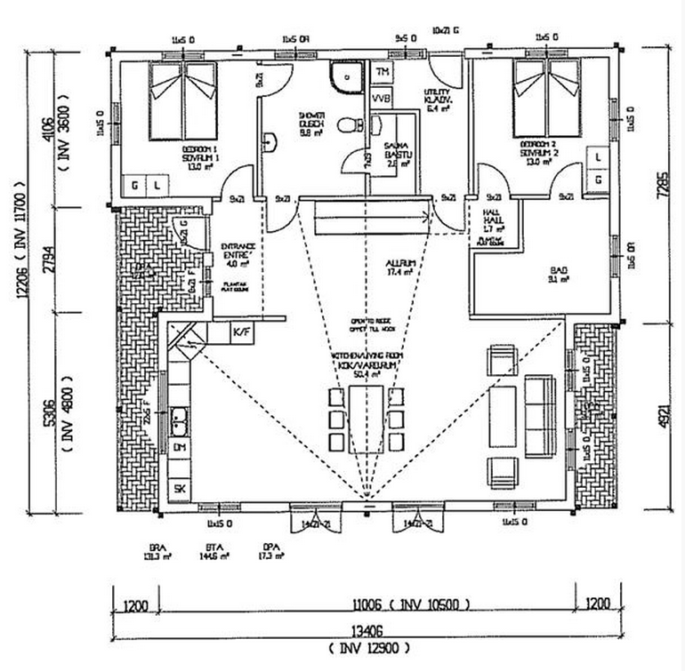 3 bedroom house plans - 3 Bedroom A Frame House Plans