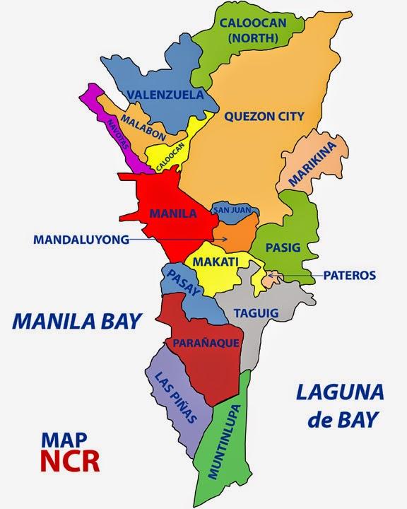 Map Of Metro Manila Cities