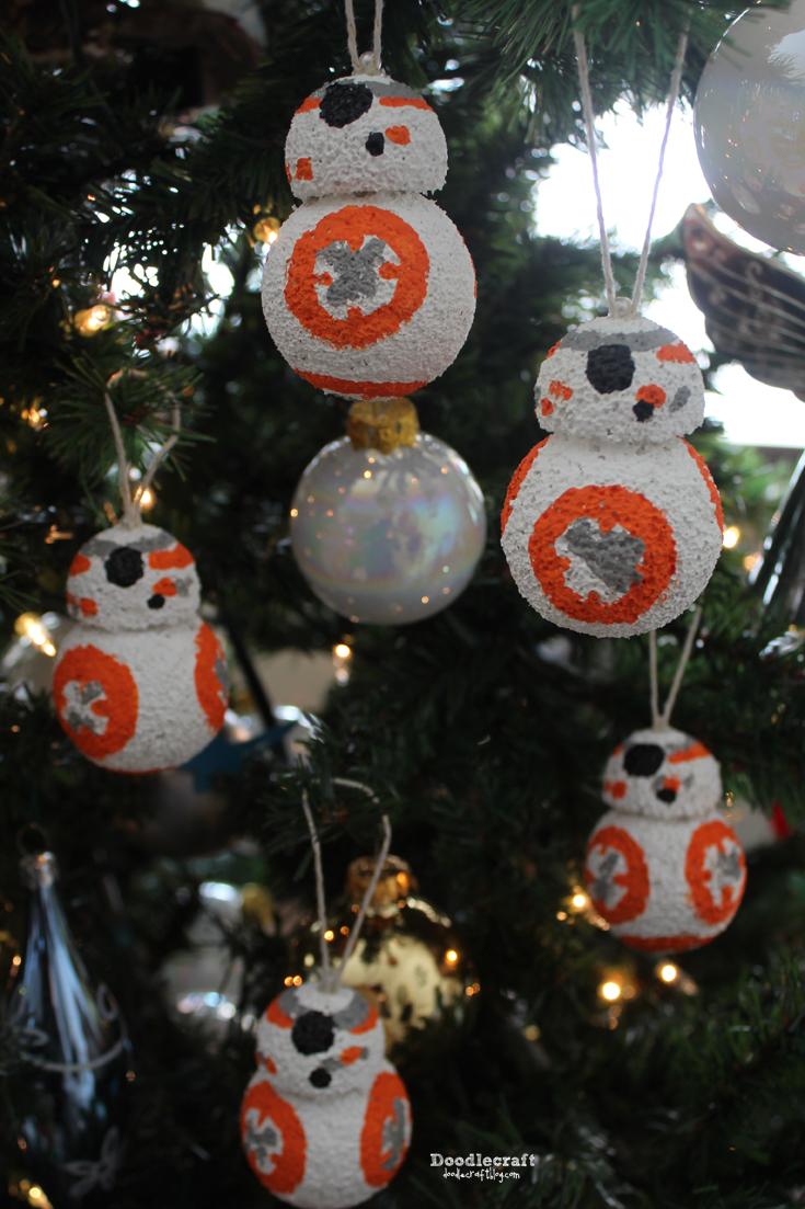 Doodlecraft: STAR WARS BB8 Styrofoam Ornament!