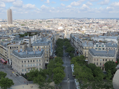 Arc De Triomphe view from the top, Paris, France www.thebrighterwriter.blogspot.com