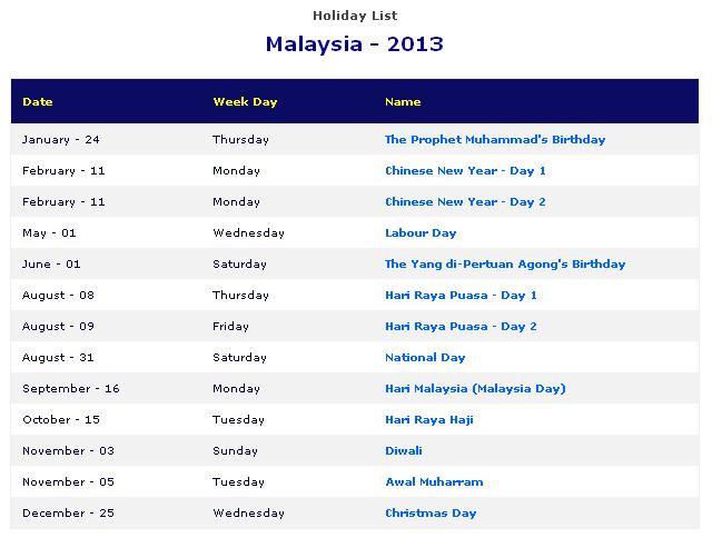 Cuti+Sekolah2013+Indonesia aLw!z b3 my baby: Planning Cuti² 2013