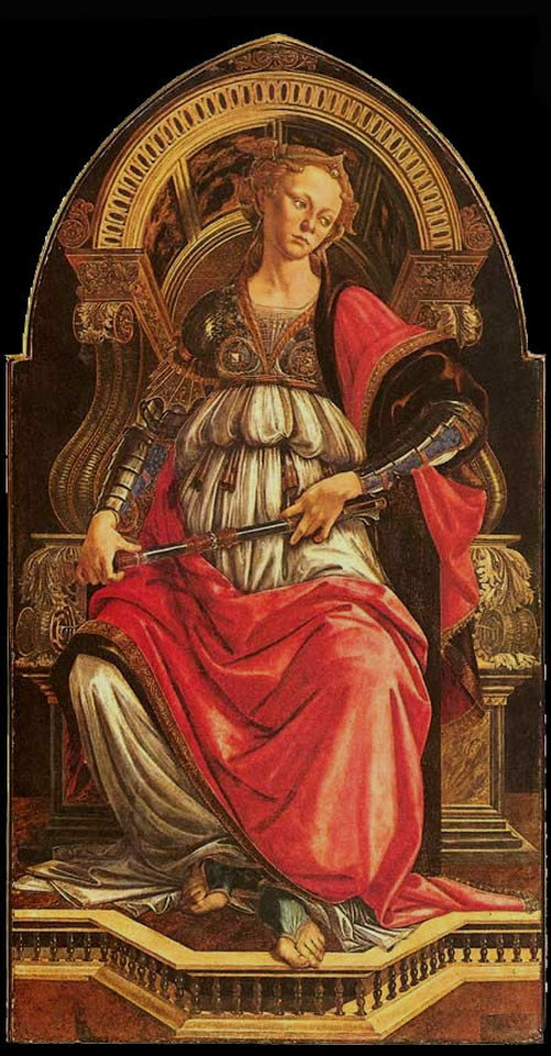"""Sandro Botticelli, """"Fortitude,"""" 1470"""