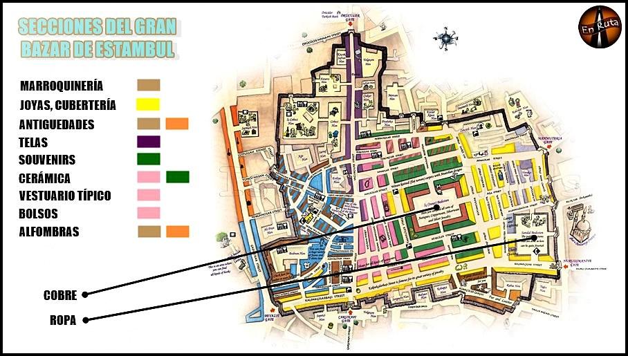 Gran-Bazar-de-Estambul-Mapa
