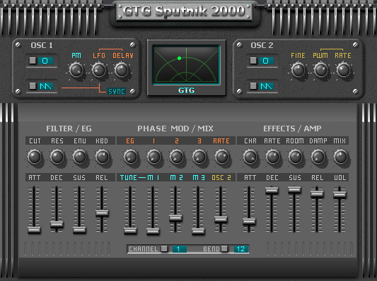 GTG Synths - GTG Sputnik 2000 Free VST Synth plugin