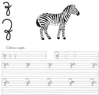 atividade caligrafia letra z