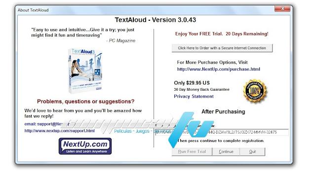 TextAloud 3 Español Pograma Texto a Voz Versión 3.0.43