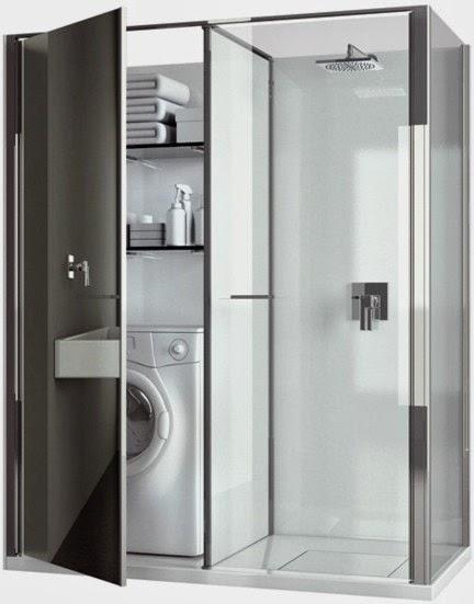 Marzua twin de vismaravetro integraci n perfecta de - Instalar lavadora en bano ...