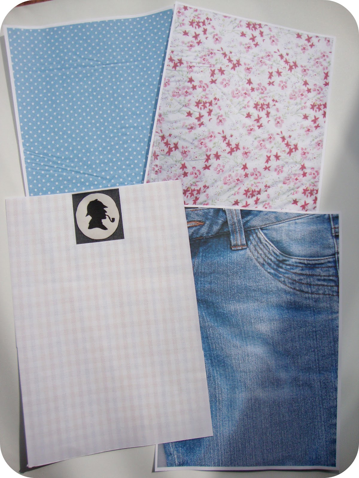 Miss Beatrix: How to Make Letter Paper With Fabric