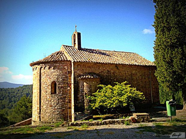 iglesia de Gallifa paraje rural