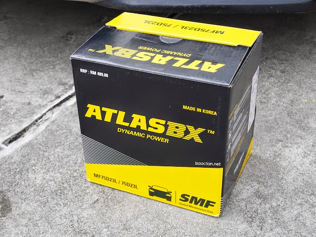 Atlas battery recommended by The Battery Shop, with a warranty of 12 months