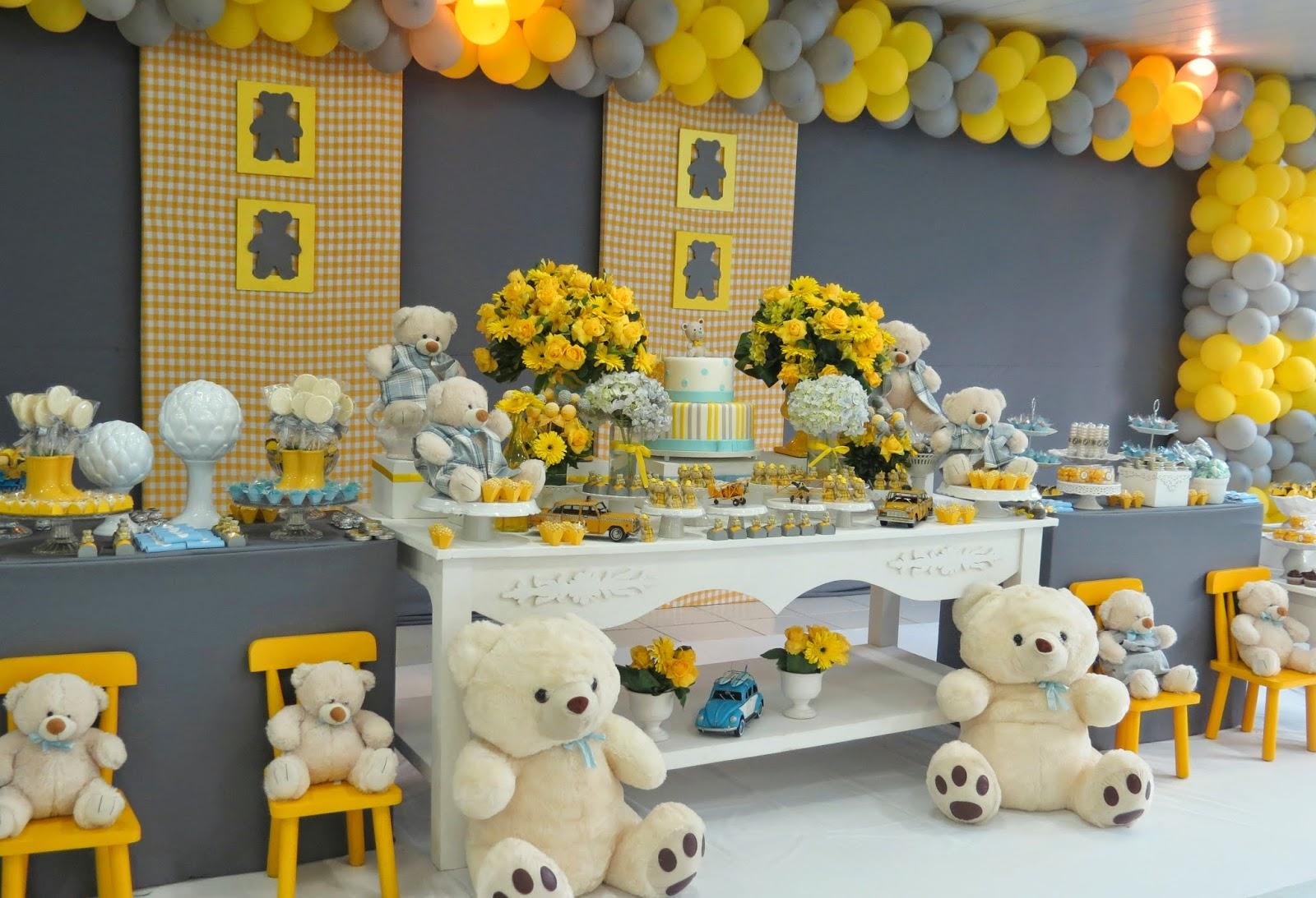 Provençal Site Oficial: Ursinho amarelo e cinza com muito estilo #B98D12 1600x1093 Banheiro Cinza E Amarelo