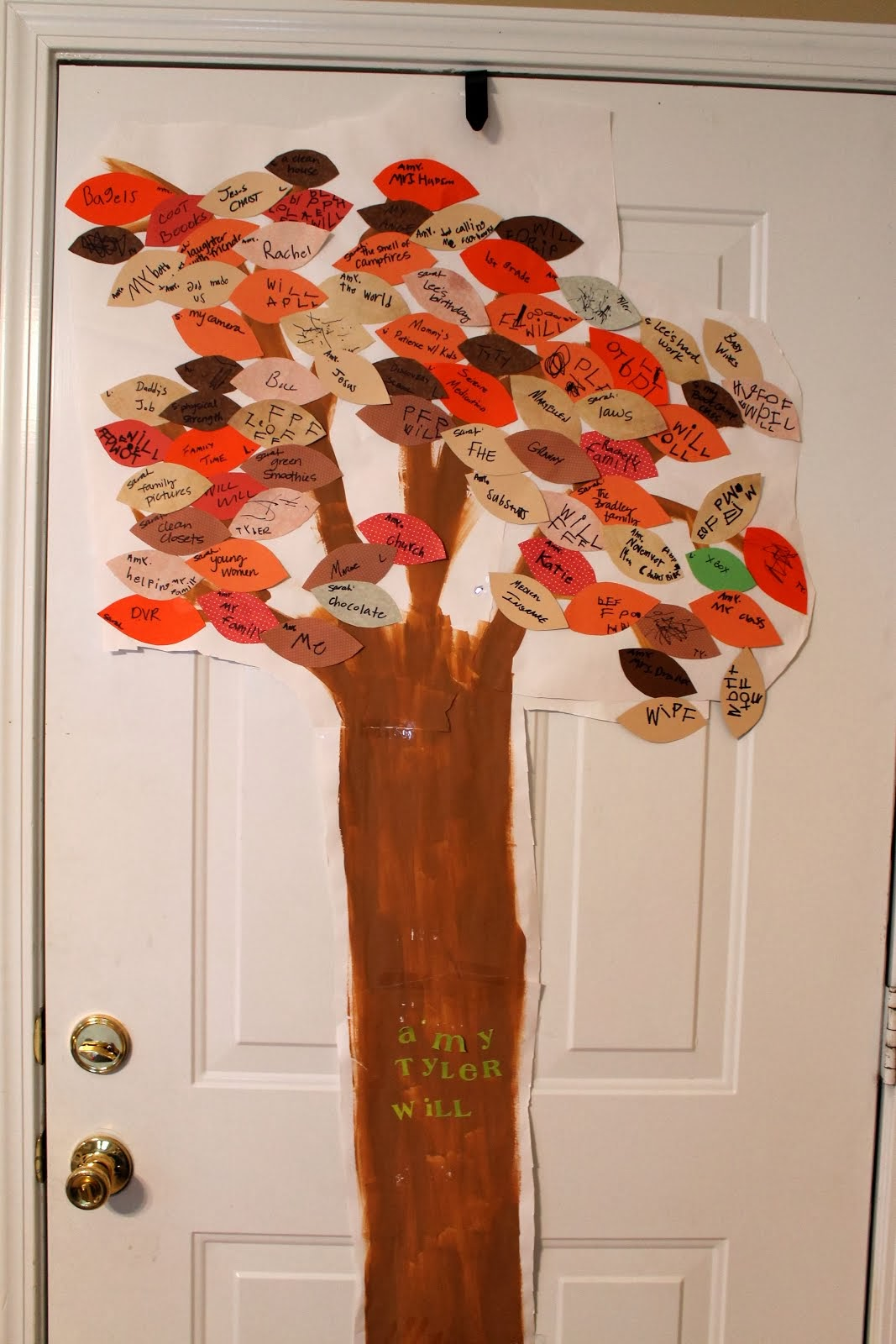 Thankful Tree, Year 2
