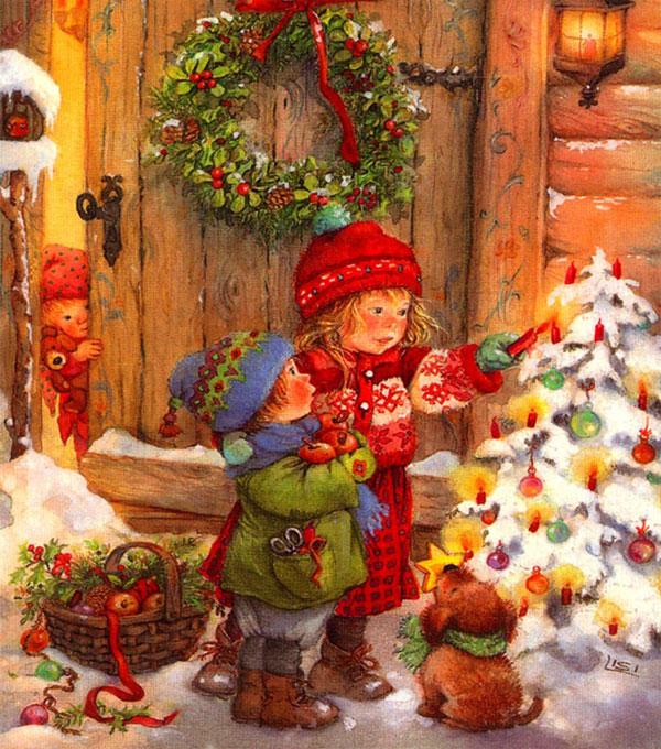 """Схема вышивки  """"Рождественские встречи """" ."""