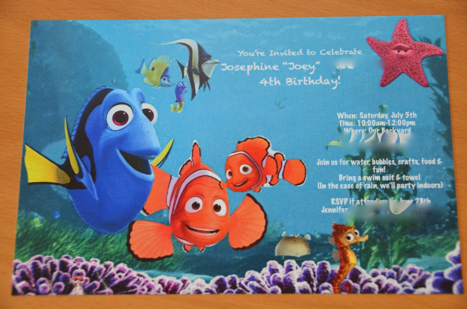 Crafts Of The Phoenix Craft Flashback Finding Nemo Birthday Party