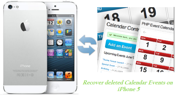 recover lost calendar on iPhone 5