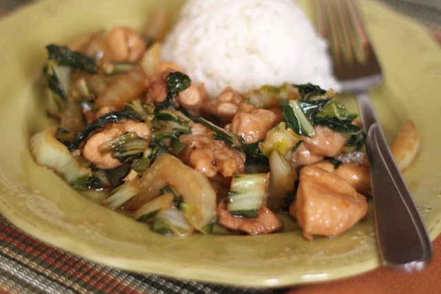 Chicken and Bok Choy Stir Fry recipe by Barefeet In The Kitchen