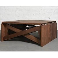Mk1 une table basse qui se transforme en table manger for Table qui se deplie