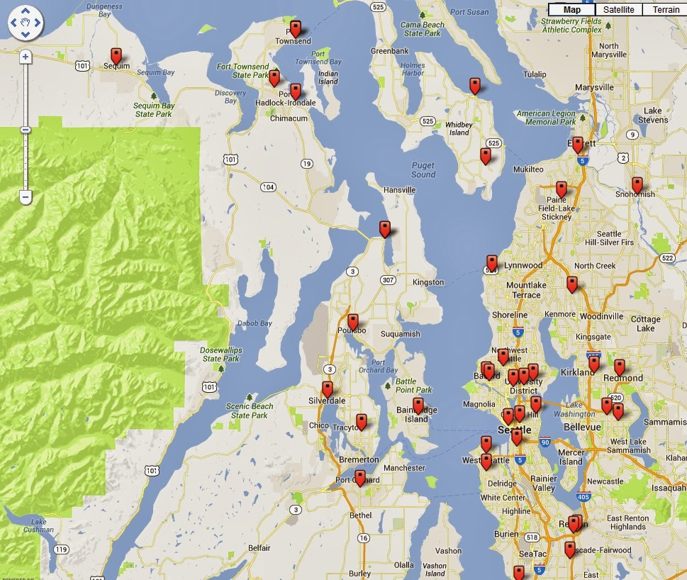 all those little orange arrows represent yarn shops near where we re going can you believe it