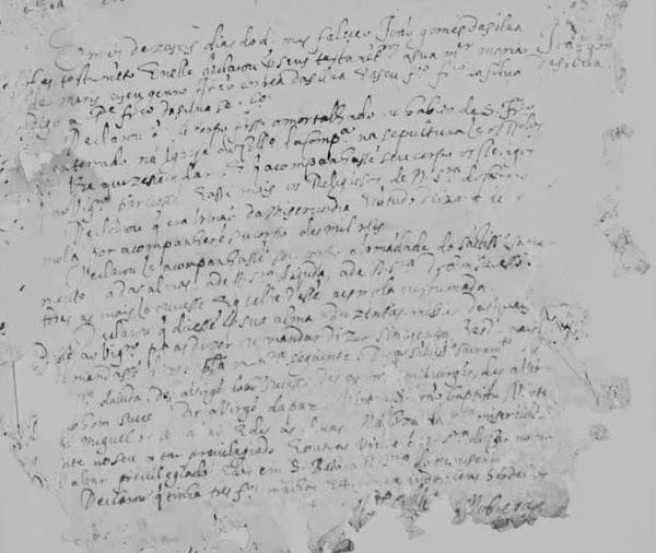 Do Livro de óbitos da antiga Sé do RJ , Igreja do Santíssimo Sacramento - 1640