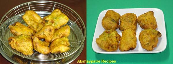 drain the fried bhaji