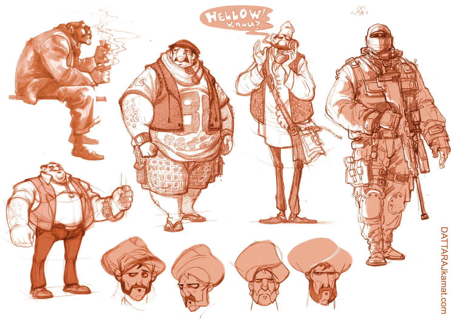 Character Design Body : Dattaraj kamat animation art character designs
