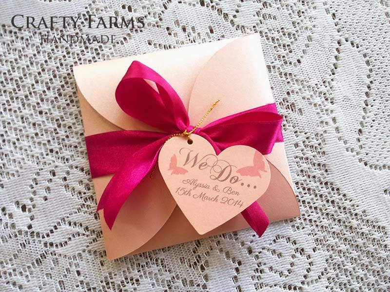 Petal Fold Wedding Cards