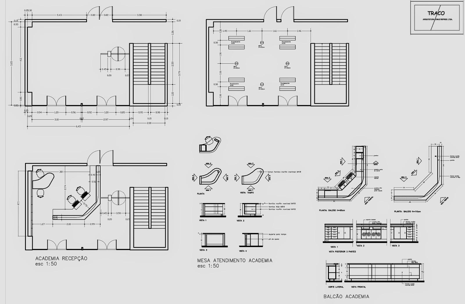 Utilizando o autocad 2d desenvolvendo plantas cortes perspectivas  #363636 1600x1046 Banheiro Acessibilidade Bloco Cad