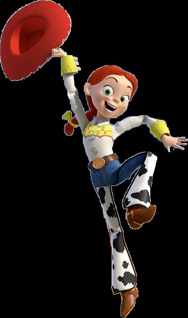 Jessie Toy Story desenho colorido com fundo transparente