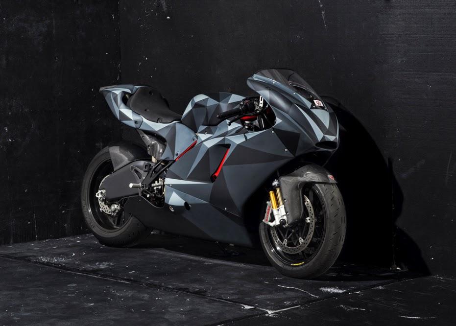 Foto Modifikasi Ducati Desmosedici RR Origami Camo Modif Motor Keren Terbaru