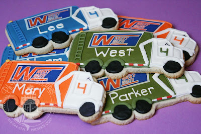 garbage truck birthday cake cookies