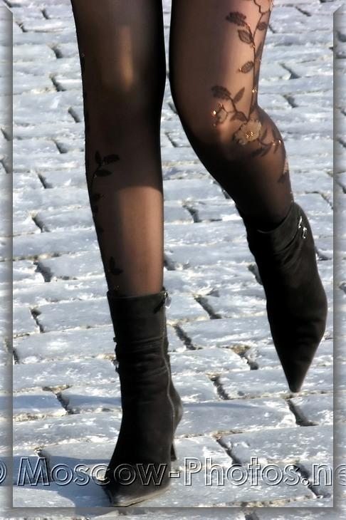 Black aggressive stiletto boots