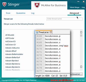 stinger tool untuk mendeteksi dan menghapus jenis virus