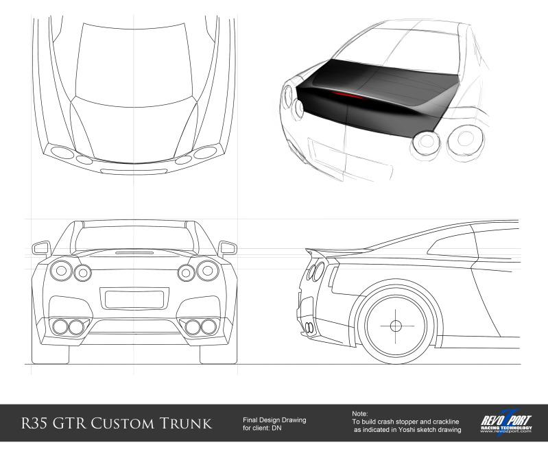 RevoZport Duckbill Trunk For Nissan GT-R
