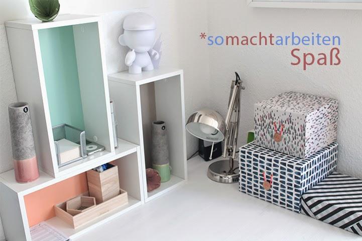 Himbeerblues so macht arbeiten spa endlich neue for Schreibtisch dekoration