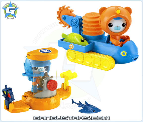 the Octonauts オクトノーツ Barnacles Deep Sea Octo-Buggy Fisher-Price toys キャプテン・バーナクルズ