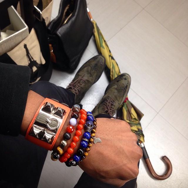 Hermes clic h or collier de chien for men - Housse de clic clac new york ...