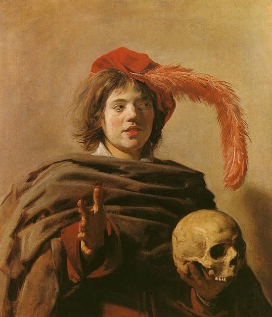 boy with a skull , Baroque Portrait,Frans Hals