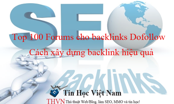 Top 100 Forums cho backlinks Dofollow