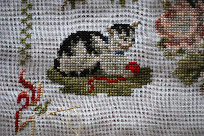 cat in cross stitch