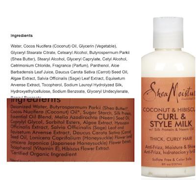 Shea moisture ingredients