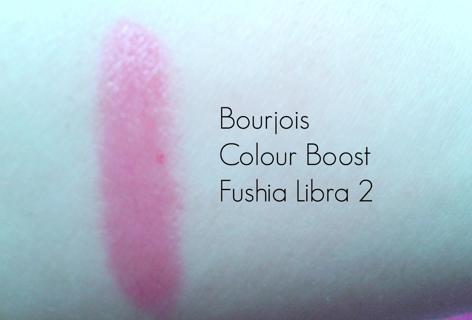 swatch of Bourjois Colour Boost lip crayon in fuschia libra