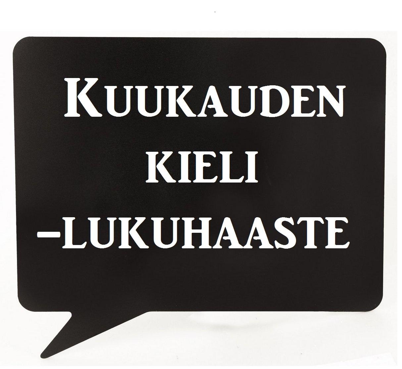 Kuukauden kieli -lukuhaaste