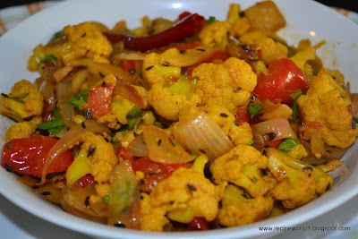 Cauliflower Masala Curry ( Dry )