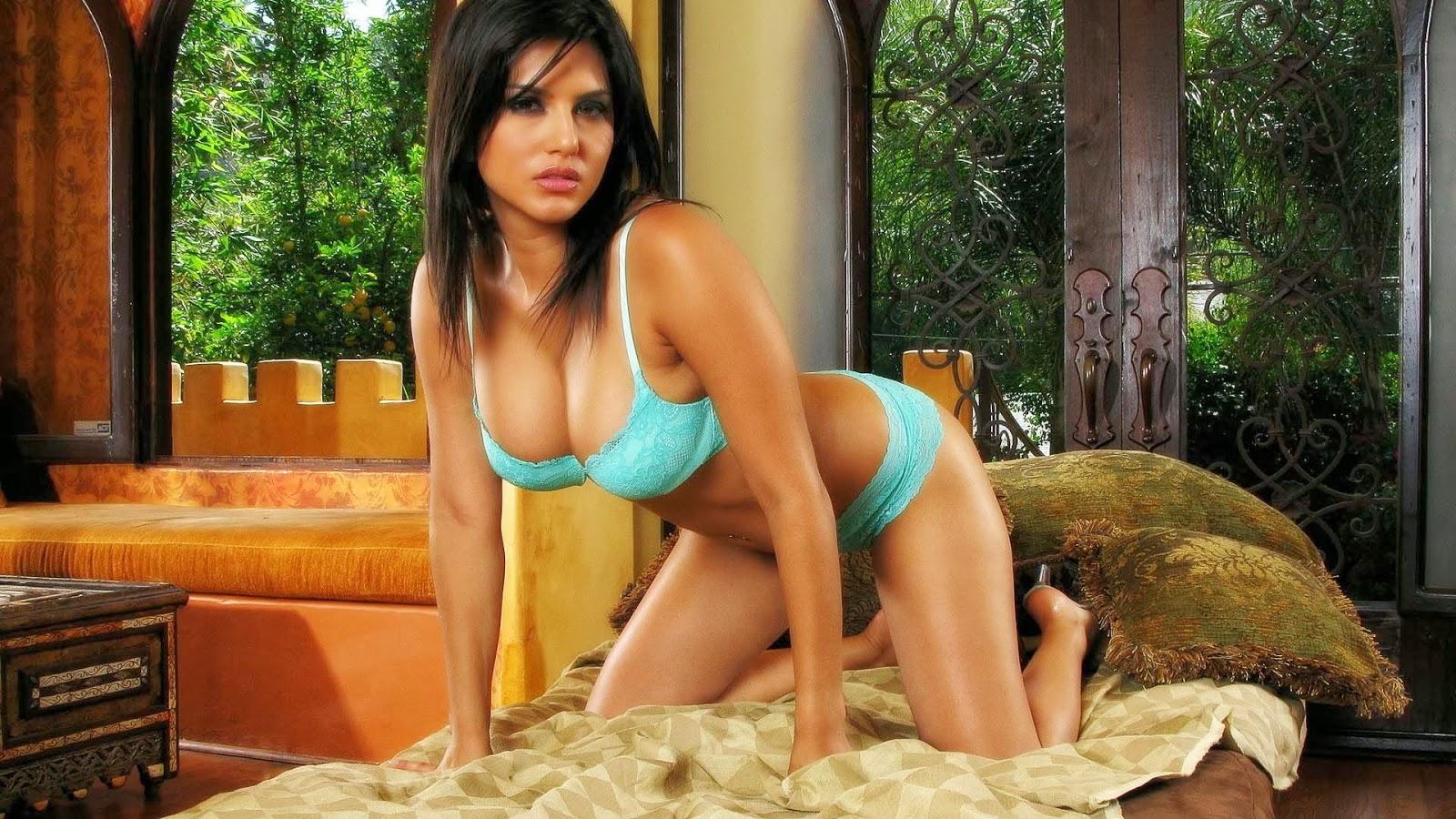 Hot and Sexy Sunny Leone in Bikini HD Desktop Wallpaper