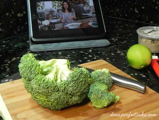 Macarrão com brócolis - baseado em receita da Cozinha Prática