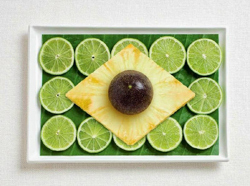 18 National Flags Made From Food - Brazil