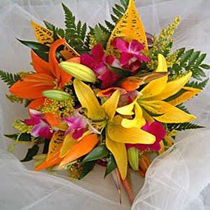Escape to paradise tropical flower bouquets - Photos bouquets de fleurs ...